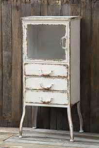 Metal Bathroom Cabinet Distressed White Metal Apothecary Cabinet