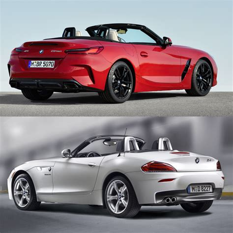 photo comparison g29 bmw z4 vs e89 bmw z4
