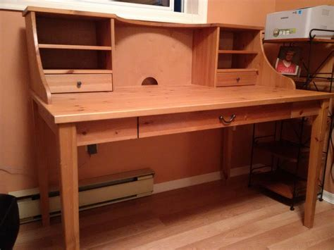 Ikea Alve Wood Desk With Ikea Joel Wood Chair Saanich Alve Desk
