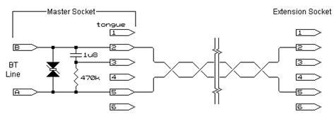 wiring diagram for telephone master socket diagram free