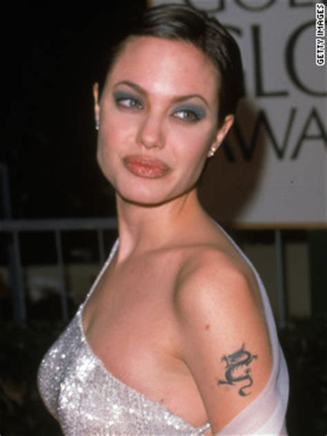angelina jolie billy bob tattoo removal gallery with tattoos cnn