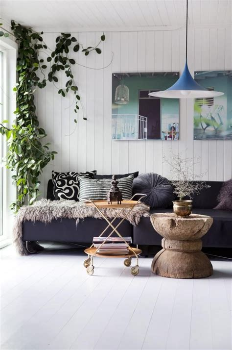 living room plant hippie chic home styling feng shui interior design the
