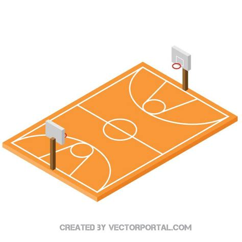 basketball court clipart cancha de baloncesto 3d descarga en vectorportal