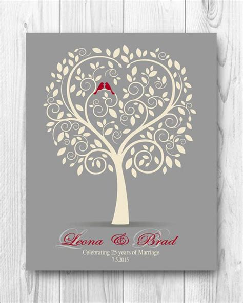 25th Wedding Anniversary Gifts by 1000 Ideas About 25th Anniversary Gifts On