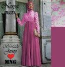 Bergo Princessa Combi baju gamis kombinasi brokat shalyra princess model gaun