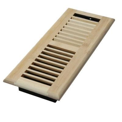 decor grates 4 in x 14 in wood unfinished bamboo
