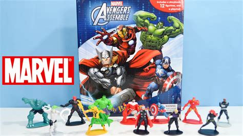 marvel assemble my busy book with toys ironman thor capt america hawkeye and more