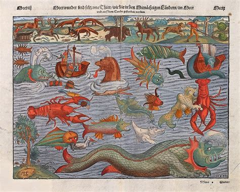 sea monsters on medieval medieval news sea monsters bones and textbooks medieval news roundup