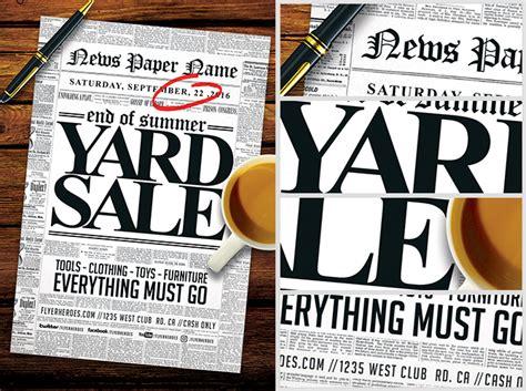 read all about it yard sale flyer template flyerheroes
