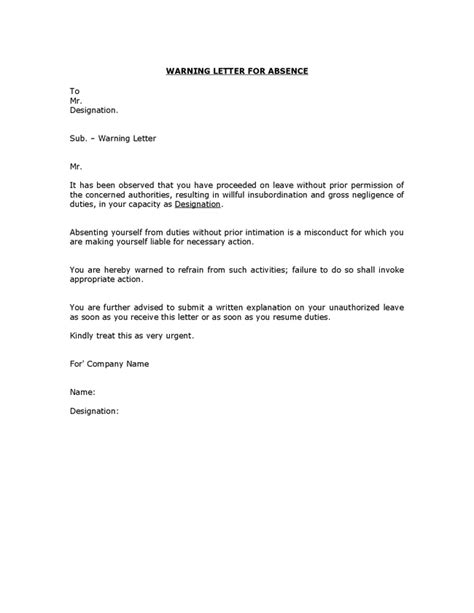 Explanation Letter For Insubordination Written Reprimand Sle For Employee Attendance Episode