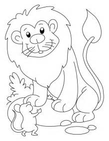 lion mouse coloring download free lion mouse coloring kids