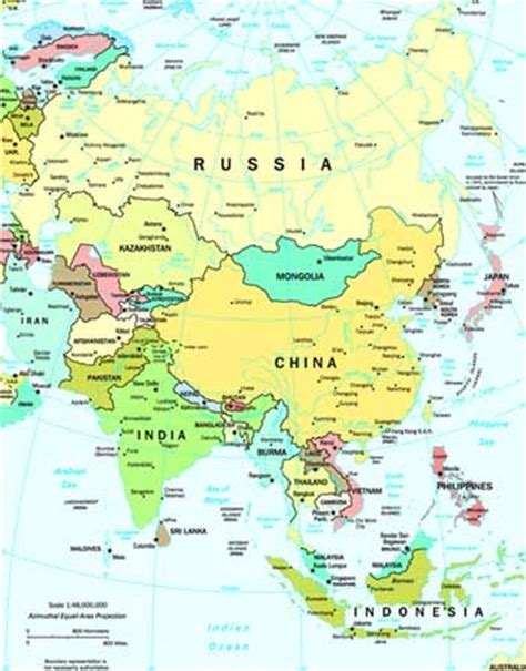 map of all of asia map of asia with countries