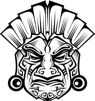 aztec mask template image gallery mayan tribal