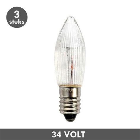 et48 candle l clear ribbed e10 3 watt 34 volt - Len 34 Volt 3 Watt