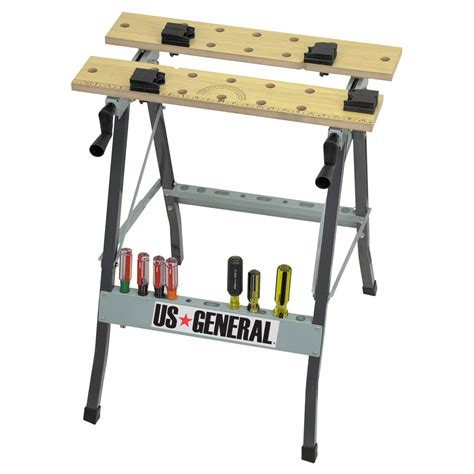 collapsable work bench folding cling workbench with movable pegs