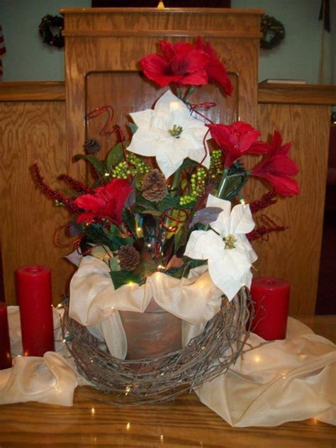 mural of centerpieces for table in everyday life christmas communion table centerpiece church decor