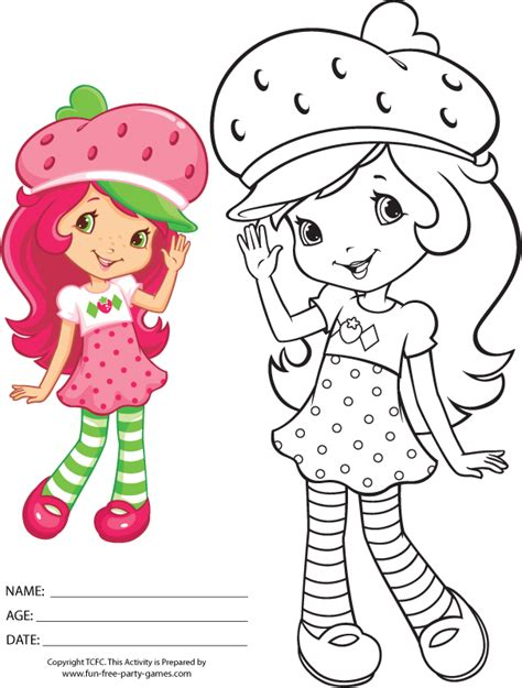 strawberry shortcake coloring pages games pin free strawberry shortcake printable coloring pages on