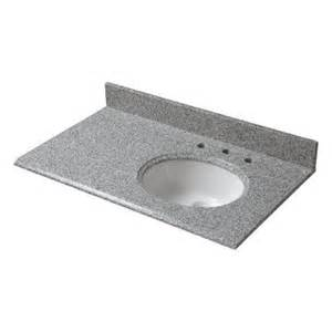 Home Depot Offset Vanity Top Pegasus 37 In W Granite Vanity Top In Napoli With Offset
