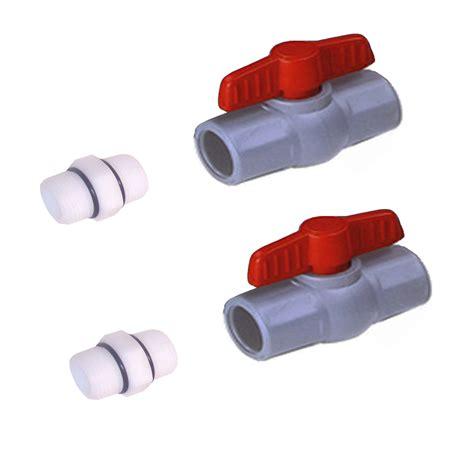 Valve Pvc 4 Drat 2 Pcs two pc s 1 quot reinforced heavy duty pvc valves two