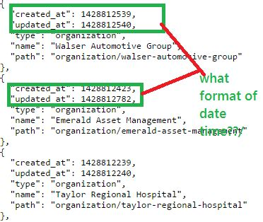format date json json date time format issue in crunchbase api using c