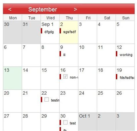 simple javascript calendar lets view