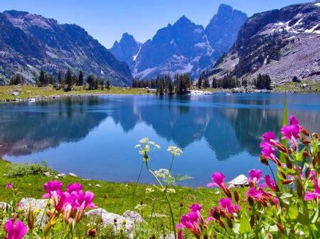 lake solitude lakes nature background wallpapers