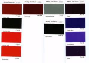 harley davidson paint colors harley