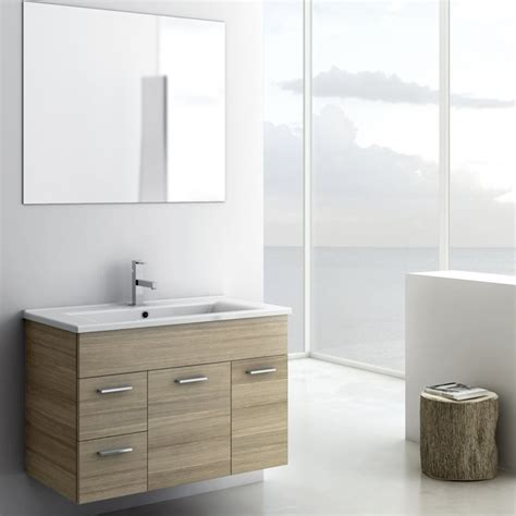 Solid Surface Vanity Sinks by Shop Nameeks Loren Larch Canapa Undermount Single Sink Bathroom Vanity With Solid Surface Top
