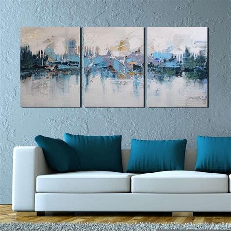 canvas prints home decor wall art painting blue sea boat online store artland modern 100 hand painted framed