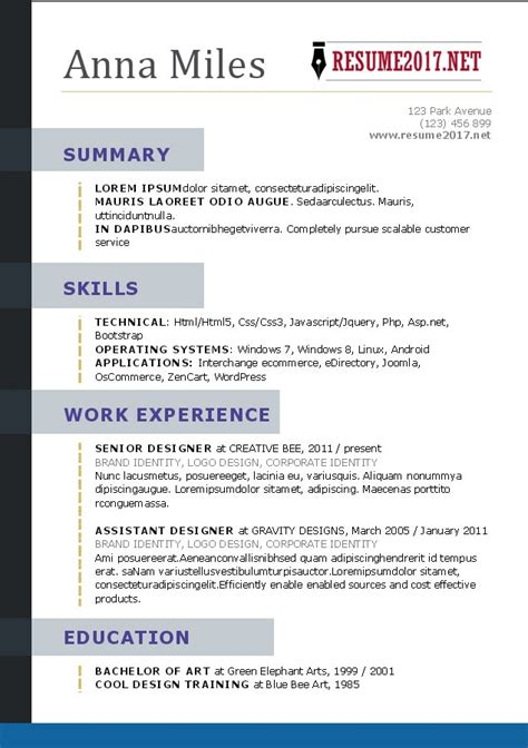 professional resume formats exles professional resume template 2017 learnhowtoloseweight net