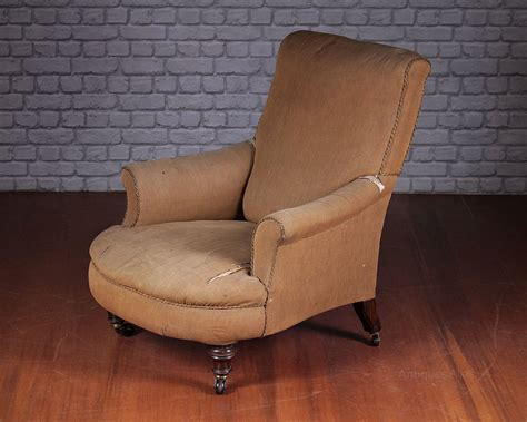 easy armchairs easy armchair for reupholstery c 1860 antiques atlas