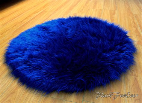 blue fur rug navy blue luxury shaggy fur plush faux fur rug