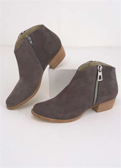 Zipped Ankle Boots ritta grey zipped ankle boot