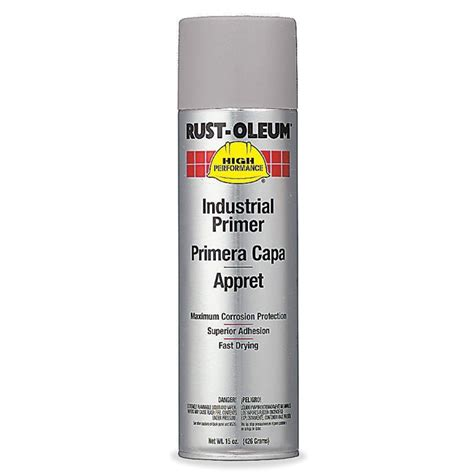 rust oleum v2182838 enamel spray primer grey primer