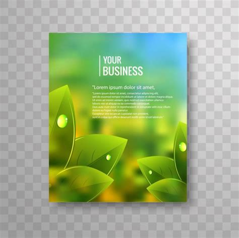 nature brochure template vector premium download business flyer template with green leaves vector premium
