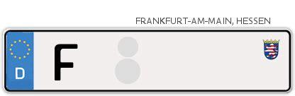 Motorrad Anmelden Frankfurt by Frankfurt A M Kfz Kennzeichen G 252 Nstig Im Online
