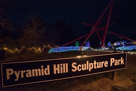 pyramid hill lights hamilton ohio photos lights on the hill at pyramid sculpture park