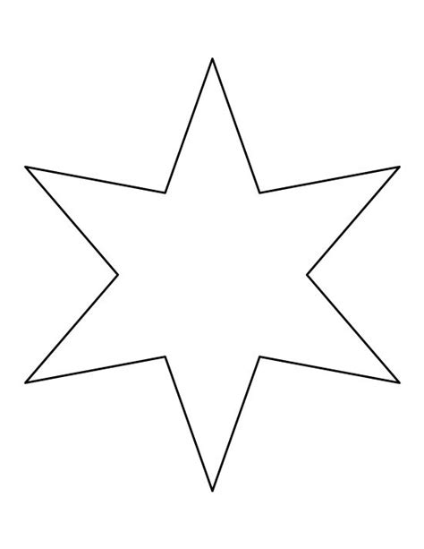 six pointed star pattern use the printable outline for