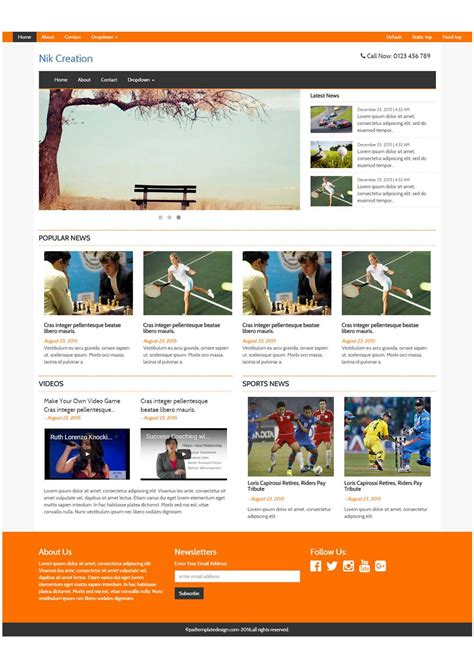 Free Responsive Magazine Html Templates On Behance Template Free Responsive