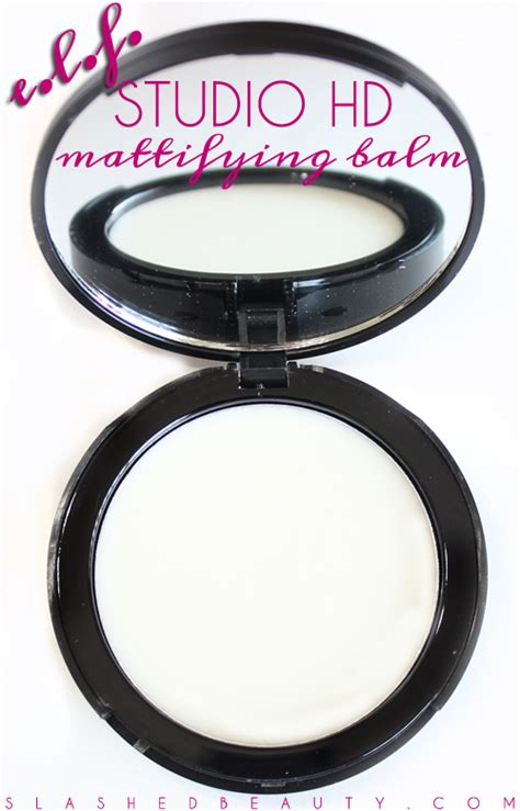 City Color Mattifying Balm Primer review e l f studio hd mattifying balm slashed