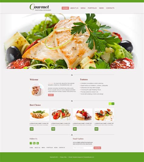 catering website templates free free website template restaurant