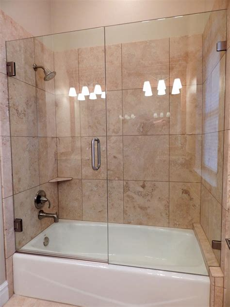 bathtub glass shower doors frameless shower doors cascade glass