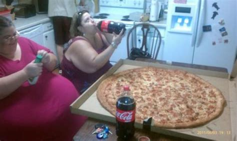 lol wtf  picture   obese women eating  pizza