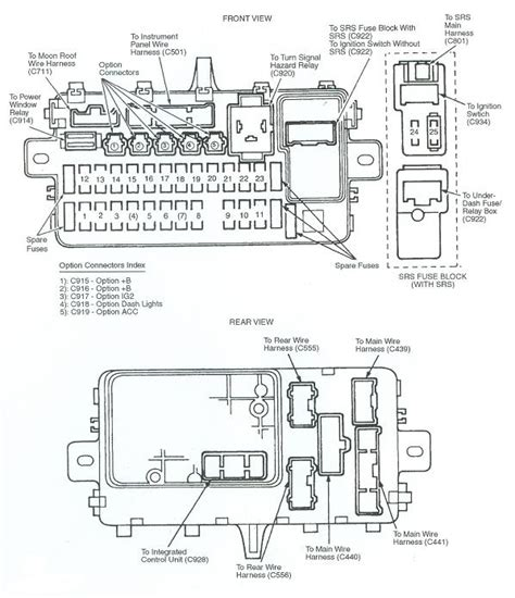 1993 honda civic fuse box fuse box and wiring diagram