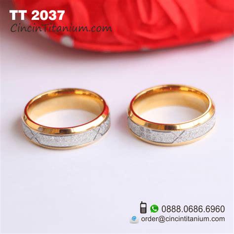 Cincin Gold Pasir Serbuk Emas Titanium 316l cincintitanium