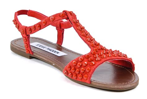 steve madden leather nickiee studded suede sandals shoes 8 5 new ebay