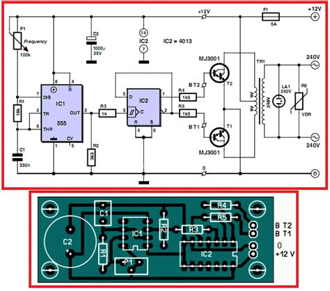 pcb layout engineer 12v to 220v inverter circuit diagram pcb layout non