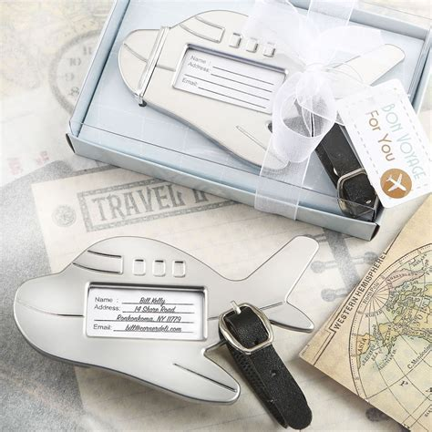 Airplane Shaped Luggage Tag   Wedding Favors   Destination