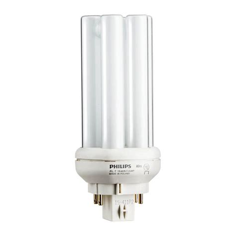 two prong fluorescent light bulbs philips 18w pl t amalgam compact soft white gx24q 2 quad