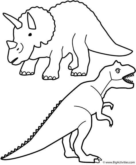 birthday dinosaur coloring page triceratops and t rex coloring page birthday